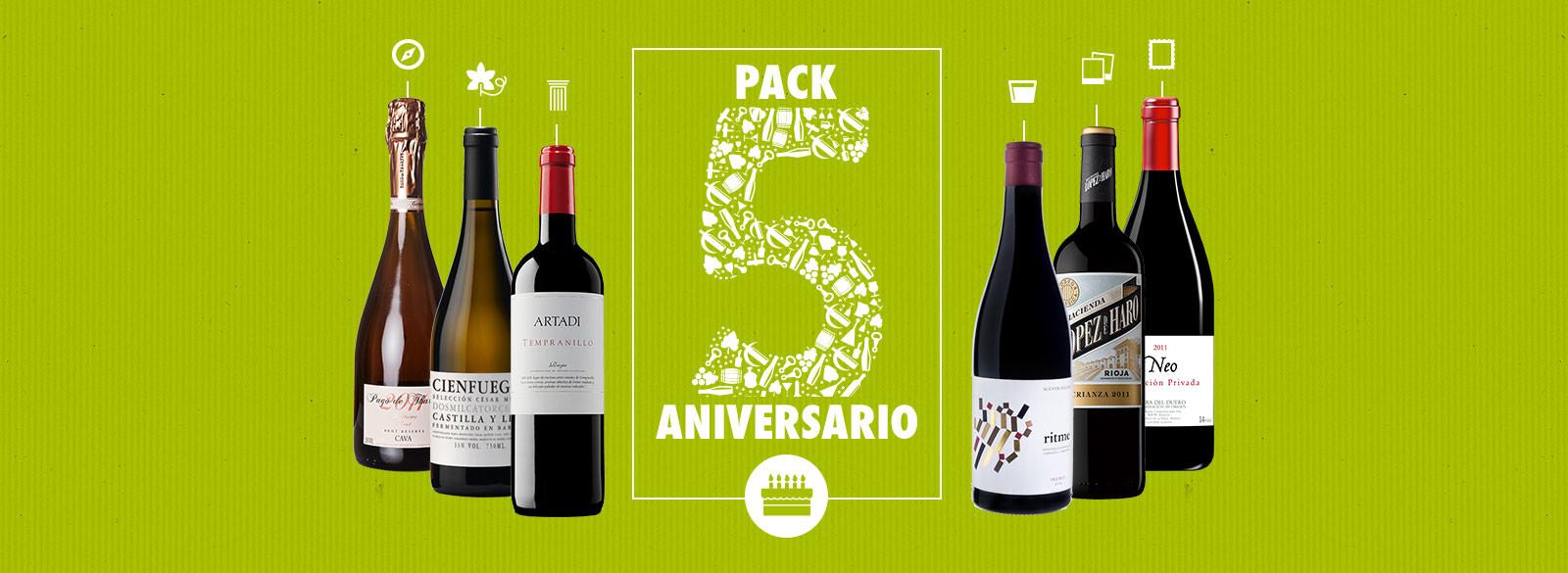 Los vinos del 5 aniversario
