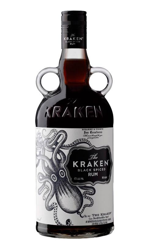 Imagen de la botella de Ron especiado Kraken