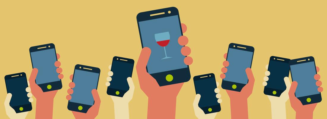 ¿Cuánto gastan los que compran vino a través de una app?