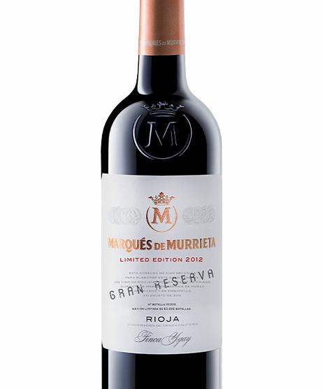 Marqués de Murrieta Ed. Limitada Gran Reserva 2012