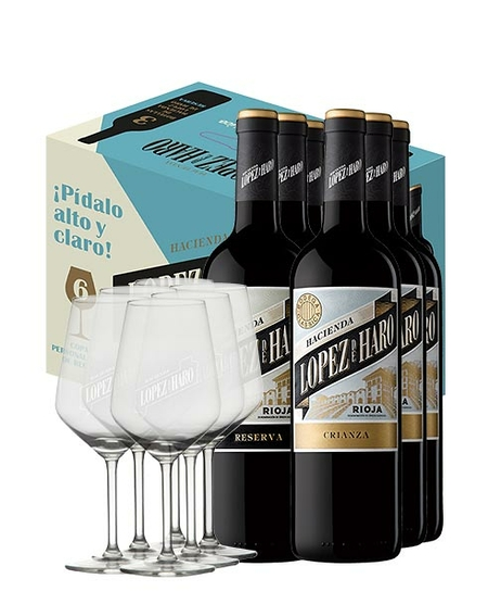 """Pack """"Pídalo Alto y Claro"""" (6 botellas + 6 copas)"""
