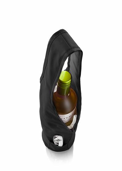 Bolsa enfriadora de vinos Gris Oscuro Vacu Vin