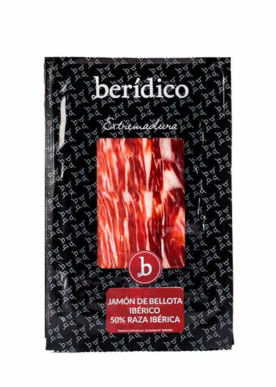 Jamón de bellota 50% ibérico 100 gramos Berídico