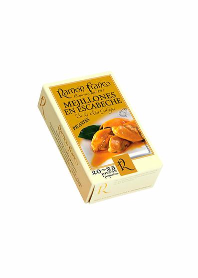 Mejillones en escabeche picantes 20-25 piezas