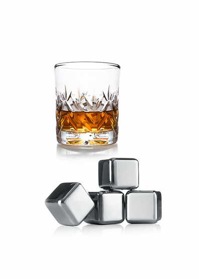 Pack 4 Cubitos para Whisky Vacu Vin