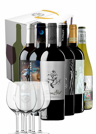 De los creadores de Juan Gil (Pack de 6 vinos + 6 copas)