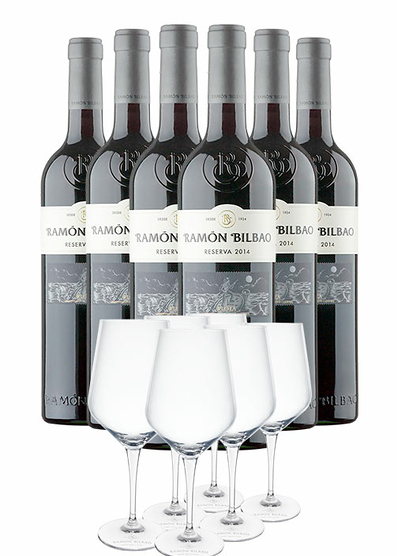 Pack Ramón Bilbao con copas (x6)