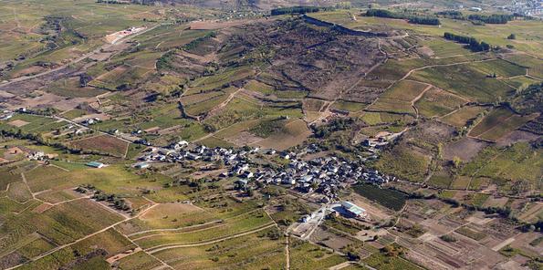Vista aérea de la localidad leonesa