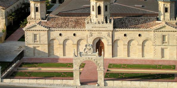 Vista aérea del Château