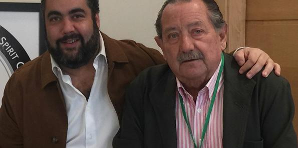 Manuel Herrera con su padre, Pascual Herrera.