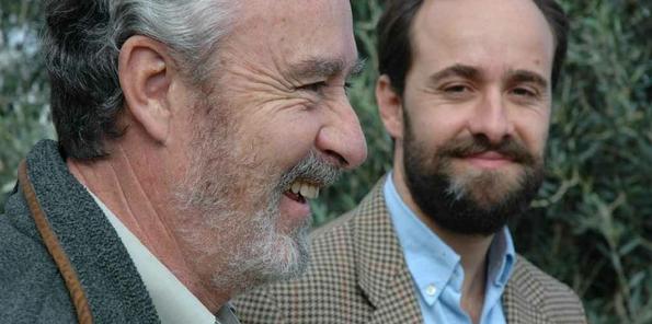 El Marqués de Valdueza y su hijo Fadrique, actual propietario.