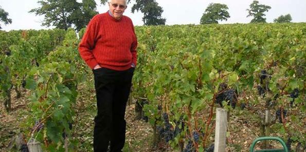 Jean-Gautreau en el viñedo