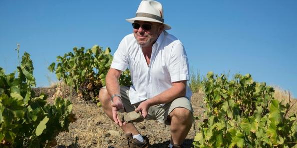 Jorge Ordóñez en uno de sus viñedos