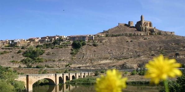 Vista del pueblo desde el río Ebro