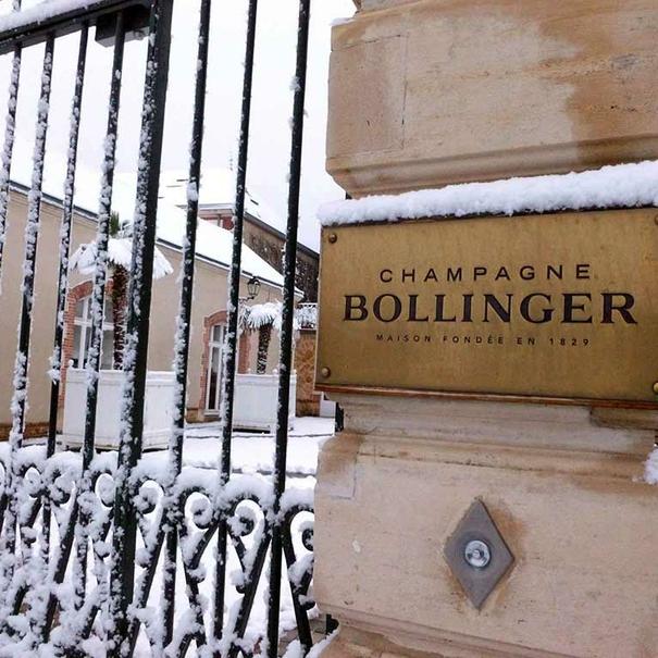 Puerta de entrada a la Maison Bollinger