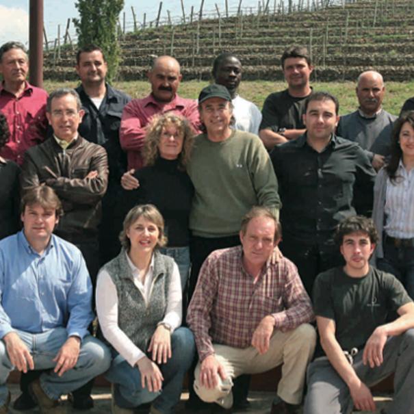 Responsables y trabajadores de Mas Perinet