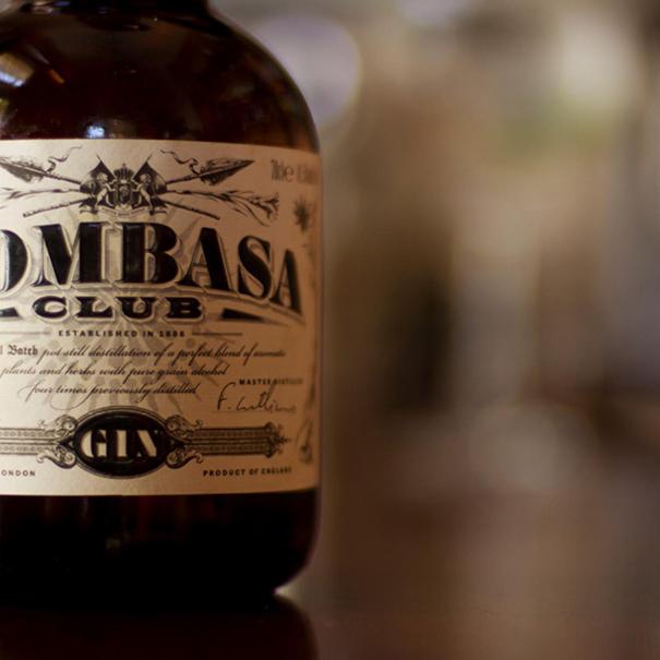 Detalle de la botella de Mombasa Gin