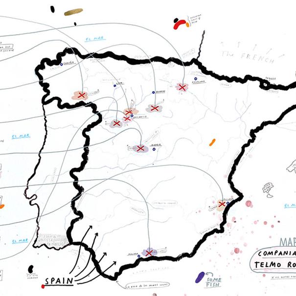 Mapa de los proyectos de la Compañía de Vinos Telmo Rodríguez