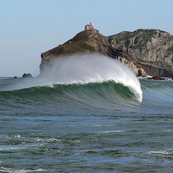 Imagen de la costa guipuzcoana