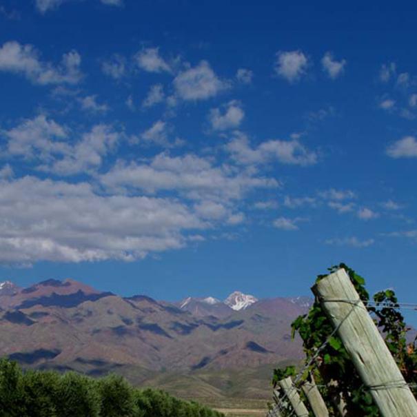 Vista de las montañas andinas