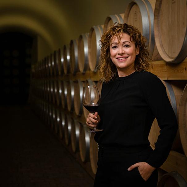 Almudena Alberca, enóloga de Viña Mayor