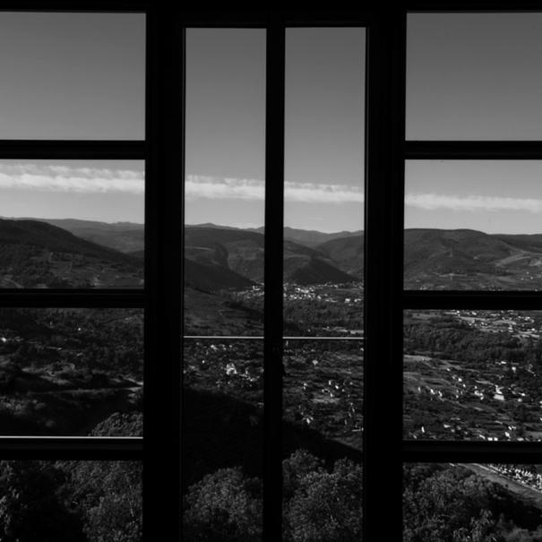 Vista del paisaje desde la bodega