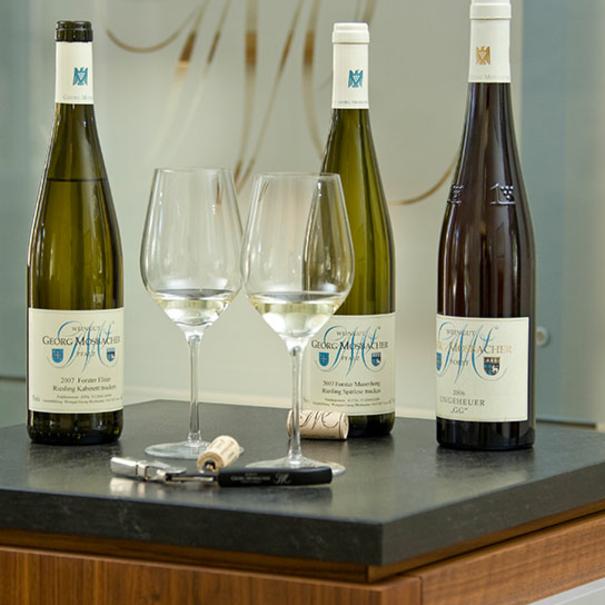 Una muestra de los vinos de la casa