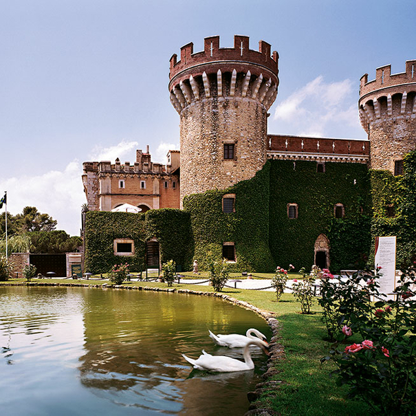 Panorámica del Castillo de Perelada