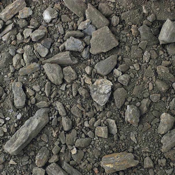 Detalle de los suelos pizarrosos en la finca Espolla
