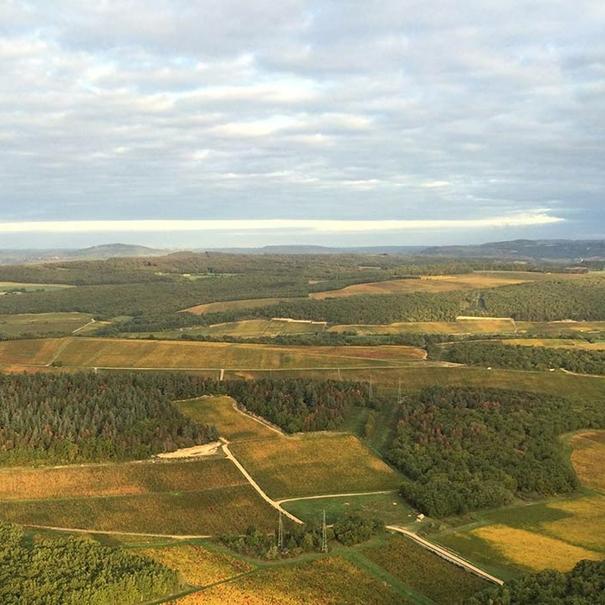 Vista aérea de Mercurey La Framboisiére