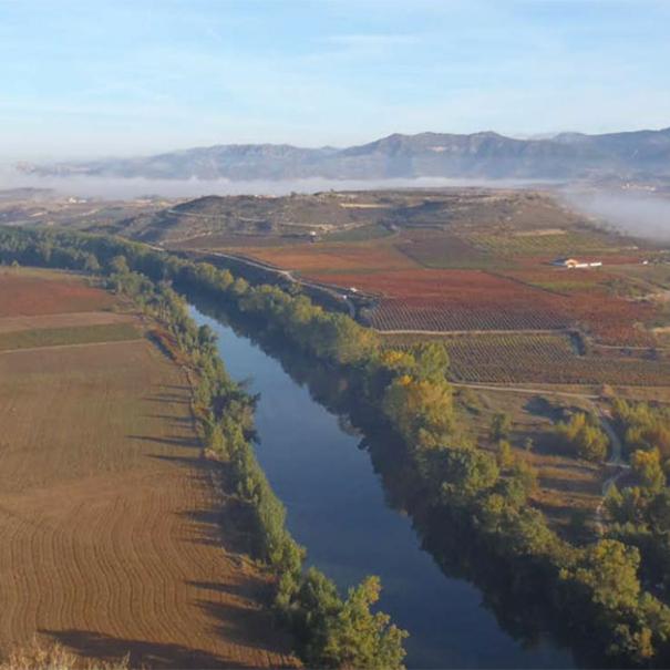 El Ebro a su paso por San Vicente de la Sonsierra